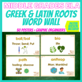Greek & Latin Roots Word Wall: 50 Posters for Middle Grades