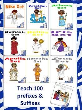 Greek & Latin Roots-prefix & suffix-Common Core Aligned Vocabulary -Olympians