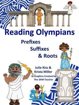Greek & Latin Roots-prefix & suffix-Common Core Aligned Vocabulary -Olympians