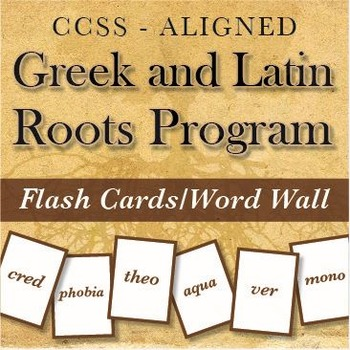 Greek & Latin Roots/Affixes: a YEAR of Videos, Flash Cards, and Data!