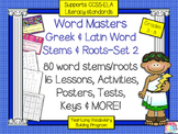 Greek and Latin Word Roots and Stems Set 2 (16 Weeks of St