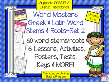 Greek and Latin Roots and Stems Set 2 (16 Weeks of Lessons)