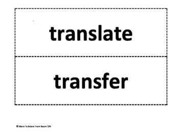 Greek & Latin Word Sort