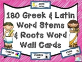 Greek and Latin Word Stems and Roots 180 Word Wall Posters