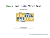 Greek & Latin Word Wall Language Arts Blue and Green