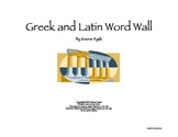 Greek & Latin Word Wall for Reading Math Science SS Gifted CCSS