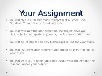 Greek Mask Interpretation Powerpoint