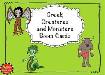 Greek Monsters Boom Cards