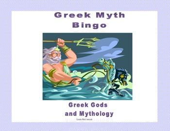 Greek Myth Bingo -Fun Review of Greek Gods and Mythology