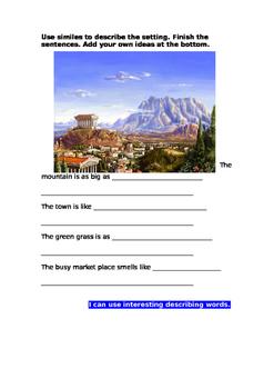 Greek Myth Descriptive Settings