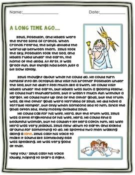 Greek Myth ELA Test Prep