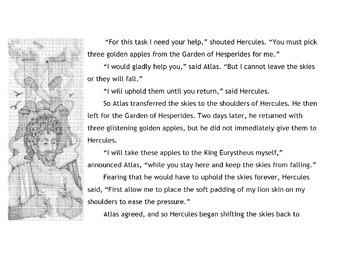 Greek Myth HERCULES'S ELEVENTH TASK w/ 18 Reading Comprehension + Vocabulary Qs