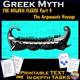 Greek Myth JASON & the ARGONAUTS VOYAGE Text & Task Cards Reading Comprehension