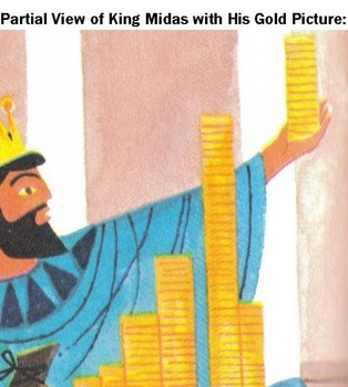 Greek Myth: KING MIDAS and GOLDEN TOUCH w/ 8 Question Note