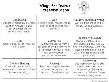 Greek Myth STEM: Wings for Icarus