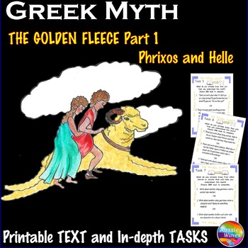Greek Myth THE GOLDEN FLEECE Text & Task Cards Reading with In-Depth Questions