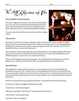 Greek Myth - The Story of Echo and Narcissus