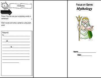 Greek Myth Trifold