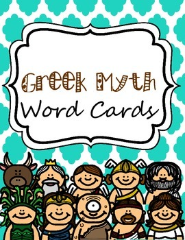 Greek Myth Word Cards for Writing Center or Word Wall