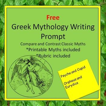 Free Greek Mythology Writing Assignment:Common Core