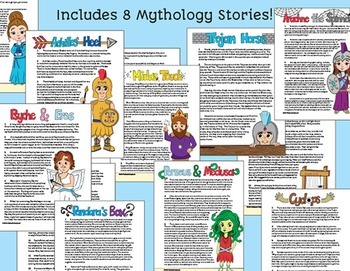 Greek Mythology Integrated w/ Story Elements: Character traits, Plot, & Theme