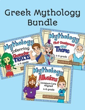 Greek Mythology Bundle - 12 Greek Stories - Allusions - ELA Tasks and Lessons