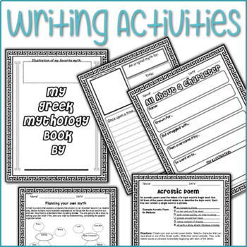 Greek Mythology Stories plus Activities