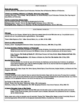 Greek Mythology Allusions Project- annotated bibliography, MLA format