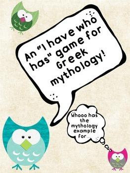 """Greek Mythology FREEBIE: An """"I Have Who Has"""" game!"""