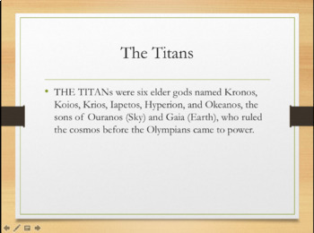 Greek Mythology - An Introduction to the Gods PPT