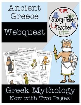 Greek Mythology Ancient Greece Webquest