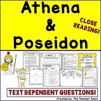 Athena and Poseidon Myth Greek Mythology Passages for Close Reading
