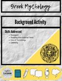 Greek Mythology Background Activity