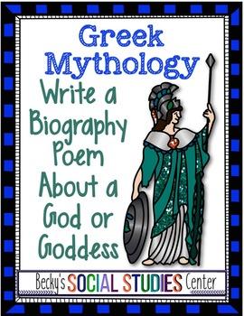 Greek Mythology: Biography Poem About Gods / Goddesses