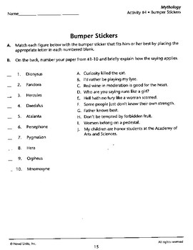 Greek Mythology Bumper Stickers