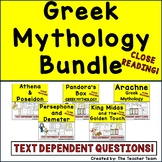 Greek Mythology Bundle with Passages and Questions for Greek Myths
