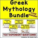 Greek Mythology Unit   Reading Passages Questions and Activities Bundle
