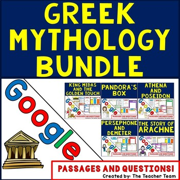 Greek Mythology Bundle Interactive Notebook for Google Classroom