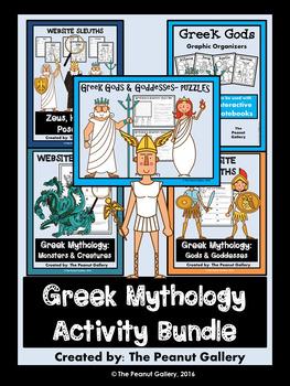 Greek Mythology Bundle (Webquests, Organizers & Puzzles)