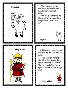 Greek Mythology Card Games: Old Maid, Go Fish, Concentration