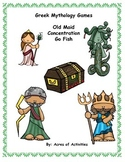 Greek Mythology Card Games: Old Maid, Go Fish, Concentration