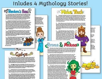 Greek Mythology Infer Character Traits Unit (FAST Method)