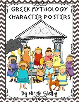 Greek Mythology Character and Allusion Poster Set
