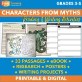 Characters from Greek Mythology Unit - Bundle with Passages, Research & Posters