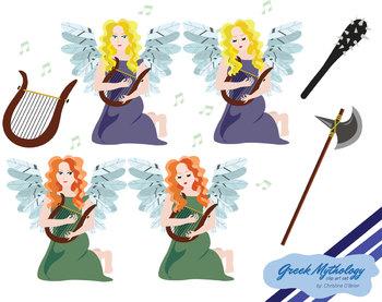Greek Mythology Characters Clip Art