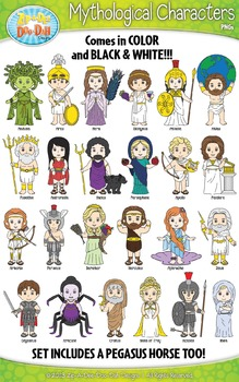 Greek Mythology Characters Clipart {Zip-A-Dee-Doo-Dah Designs}