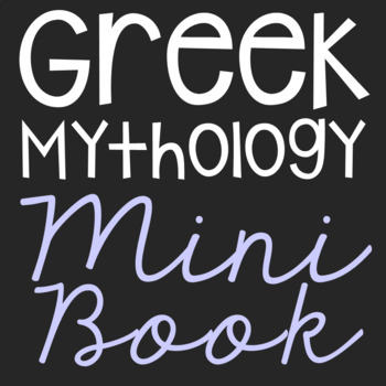 Greek Mythology Characters Mini Book with Short Biographies, Craft, Flip Book