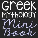 Greek Mythology Characters Mini Book with Short Biographie