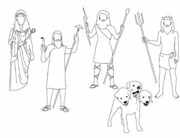 Greek Mythology Clip Art - set 1