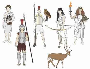 Greek Mythology Clip Art - set 2